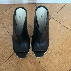 Vince sleek black heels